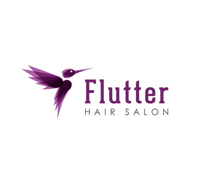 Flutter Hair SalonHello Graphics Logo Design